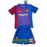 uniformes barcelona local nino kit 2021-2022